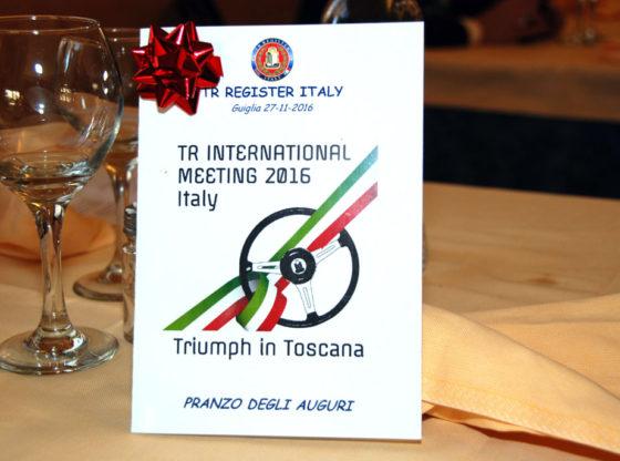 TR Register Italy, Pranzo degli Auguri, 2016