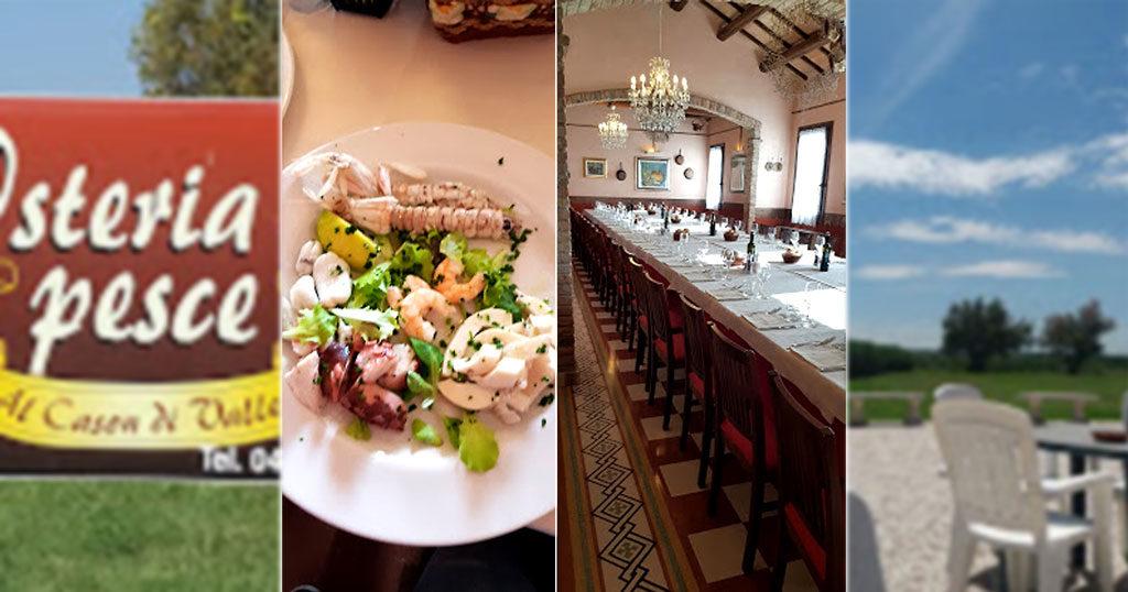 pranzo al ristorante Osteria del pesce al Cason di Valle